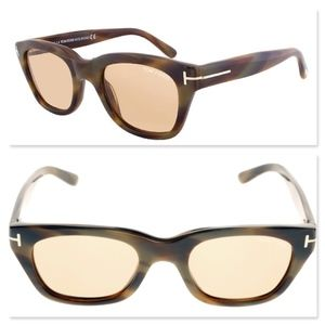 New TOM FORD Brown Rectangular Sunglasses